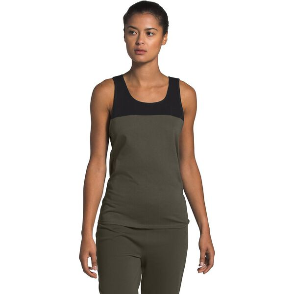 Women's North Dome Tank, NEW TAUPE GREEN/TNF BLACK, hi-res