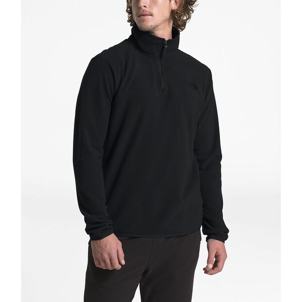 Men's TKA Glacier ¼ Zip, TNF BLACK/TNF BLACK, hi-res
