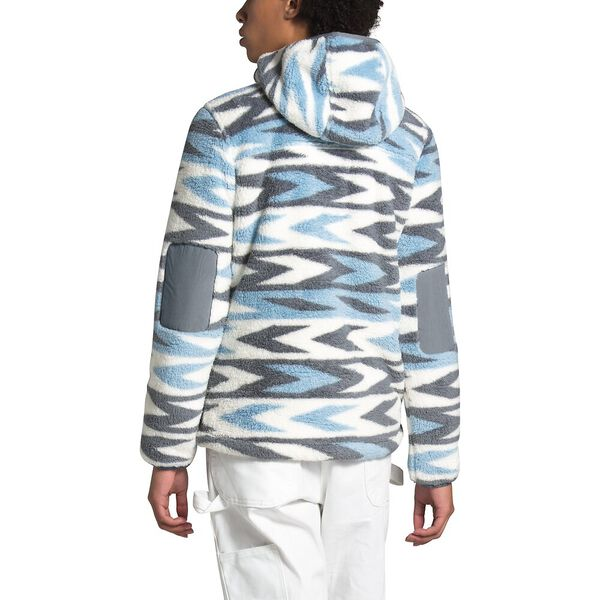 Women's Campshire Pullover Hoodie 2.0, ANGEL FALLS BLUE ARROW STRIPE PRINT/MID GREY, hi-res