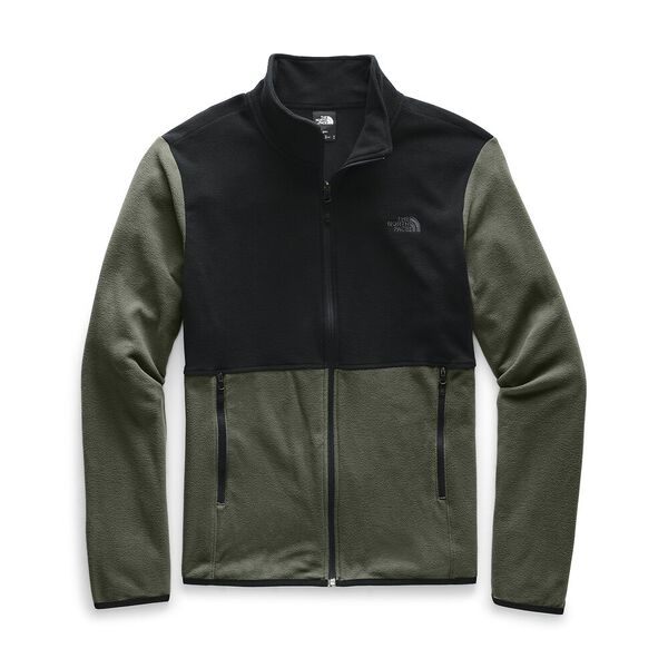 Men's TKA Glacier Fleece Full Zip Jacket, NEW TAUPE GREEN/TNF BLACK, hi-res