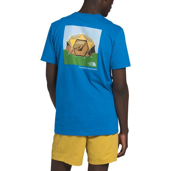 Men's Short-Sleeve Outdoor Free Tee, CLEAR LAKE BLUE, hi-res
