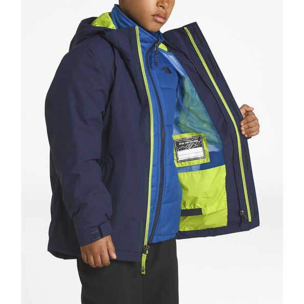 BOYS' BOUNDARY TRICLIMATE® JACKET, COSMIC BLUE/LIME GREEN, hi-res
