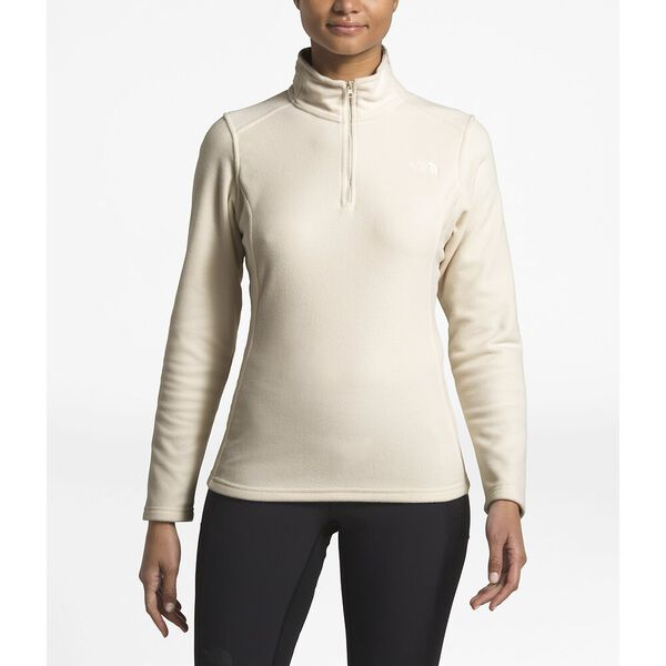 WOMEN'S GLACIER 1/4 ZIP, VINTAGE WHITE, hi-res
