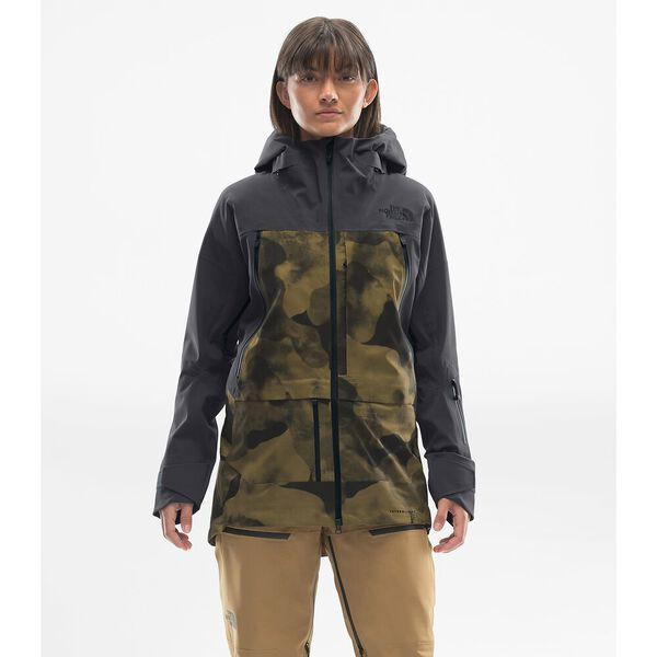 WOMEN'S A-CAD FUTURELIGHT™ JACKET, BRITISH KHAKI RIDGELINE CAMO PRINT/WEATHERED BLACK, hi-res