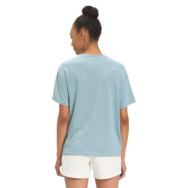 Women's Short-Sleeve Half Dome Tri-Blend Tee, TOURMALINE BLUE HEATHER, hi-res