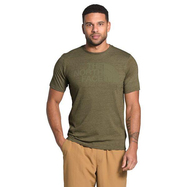 Men's Short-Sleeve Half Dome Tri-Blend Tee, BURNT OLIVE GREEN HEATHER, hi-res