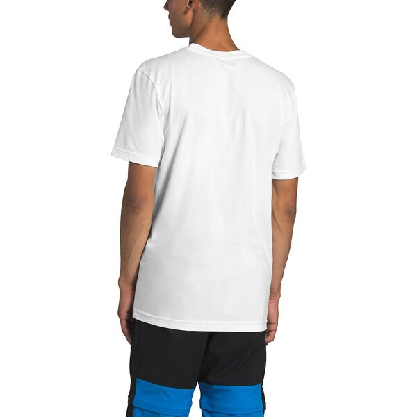 Men's Short-Sleeve New Box Cotton Tee, TNF WHITE/MR. PINK, hi-res