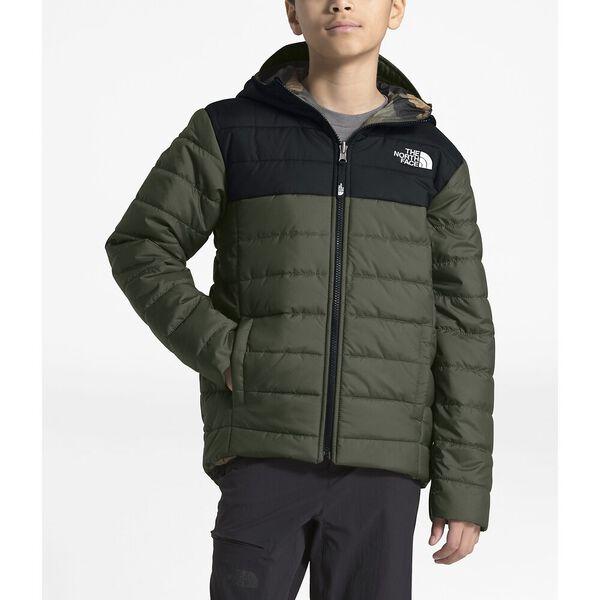 Boys' Reversible Perrito Jacket, NEW TAUPE GREEN/TNF BLACK, hi-res