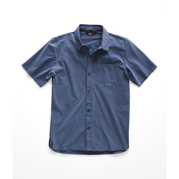 Men's North Dome Short-Sleeve Shirt, SHADY BLUE, hi-res
