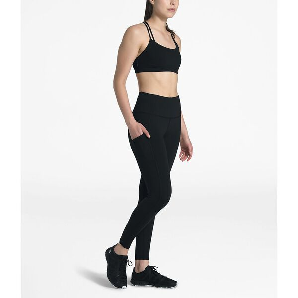 WOMEN'S MOTIVATION POCKET 7/8 TIGHT, TNF BLACK, hi-res