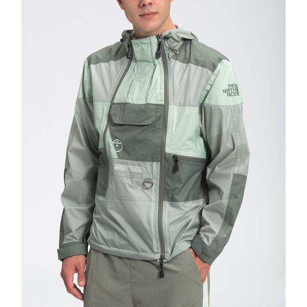 Unisex Steep Tech Light Rain Jacket, WROUGHT IRON/GREEN MIST/AGAVE GREEN, hi-res