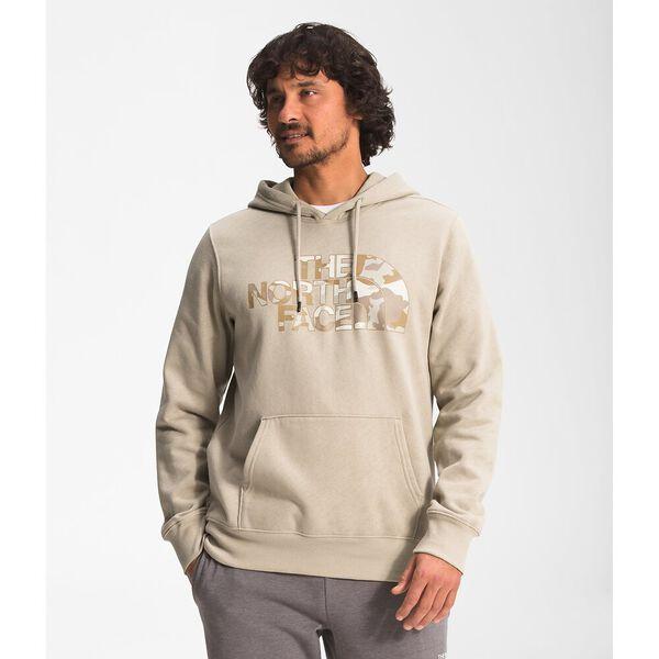 Men's Half Dome Pullover Hoodie, FLAX-KELP TAN BRUSHWOOD CAMO PRINT, hi-res