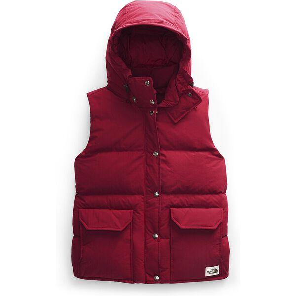 Women's Down Sierra Vest, CARDINAL RED, hi-res