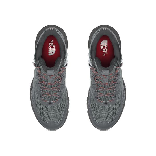 Women's Ultra Fastpack IV Mid FUTURELIGHT™, HIGH RISE GREY/HORIZON RED, hi-res