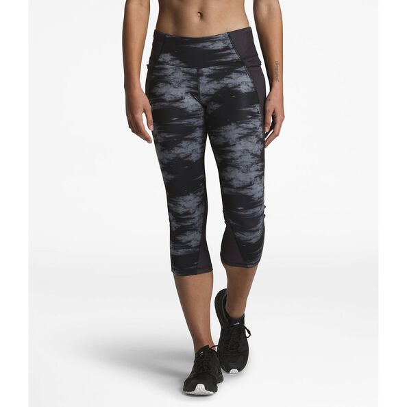 WOMEN'S AMBITION MID-RISE CROP, TNF BLACK NEBULA PRINT, hi-res
