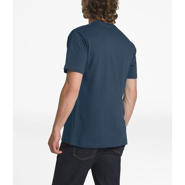 MEN'S SHORT-SLEEVE HALF DOME TEE, BLUE WING TEAL-TNF WHITE, hi-res