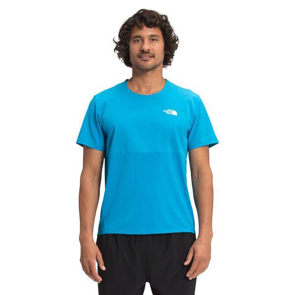 Men's True Run Short-Sleeve Shirt, MERIDIAN BLUE, hi-res