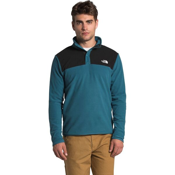 Men's TKA Glacier Snap-Neck Fleece, MALLARD BLUE/TNF BLACK, hi-res