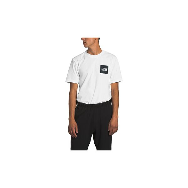 Men's Short-Sleeve New Box Cotton Tee, TNF WHITE/TNF BLACK, hi-res
