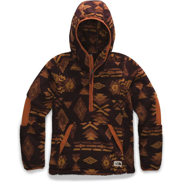 Women's Campshire Pullover Hoodie 2.0, DEEP GARNET RED CALIFORNIA GEO PRINT, hi-res