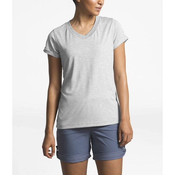 Women's Hyperlayer Flashdry™ Short-Sleeve V-Neck, TNF LIGHT GREY HEATHER, hi-res