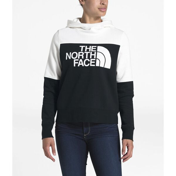 WOMEN'S DREW PEAK PULLOVER HOODIE, TNF BLACK/TNF WHITE, hi-res