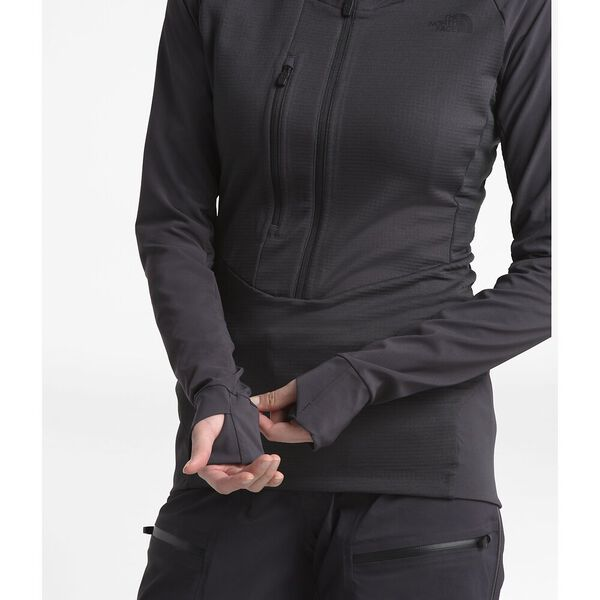 Women's Respirator Mid-Layer, WEATHERED BLACK, hi-res