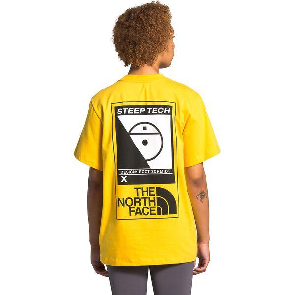 Unisex Short-Sleeve Steep Tech™ Logo Tee, LIGHTNING YELLOW, hi-res