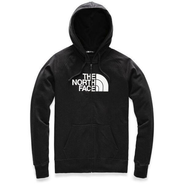 WOMEN'S HALF DOME FULL ZIP HOODIE, TNF BLACK/TNF WHITE, hi-res
