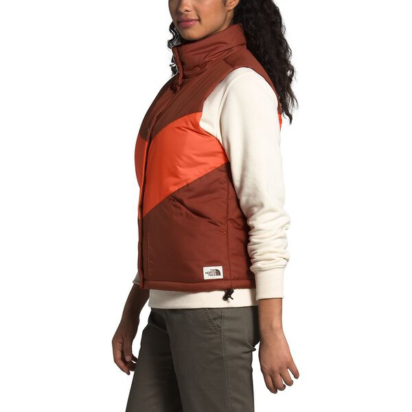 Women's Sylvester Vest, BRANDY BROWN/BURNT OCHRE, hi-res