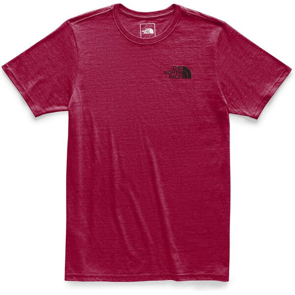 MEN'S SHORT-SLEEVE ARCHIVED TRI-BLEND TEE, CARDINAL RED HEATHER, hi-res