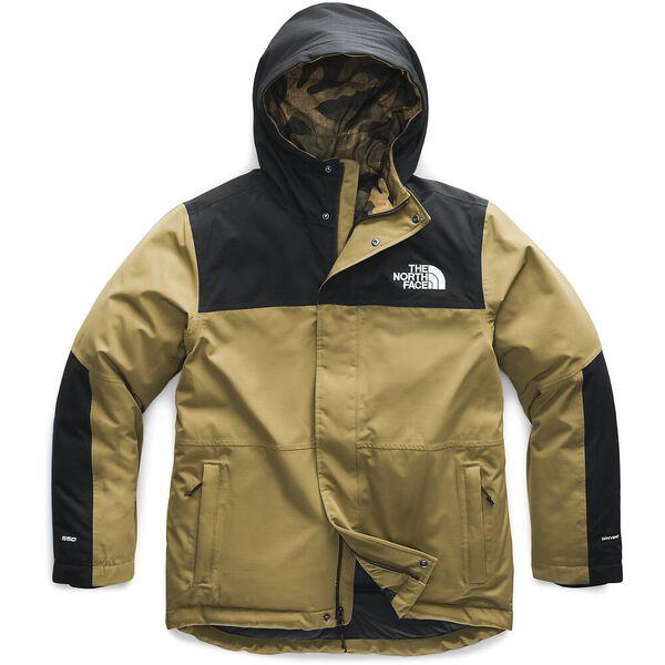 Men's Balham Insulated Jacket, BRITISH KHAKI/BURNT OLIVE GREEN WAXED CAMO PRINT, hi-res