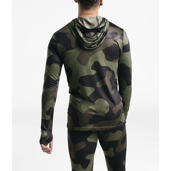 MEN'S WARM POLY HOODIE, FOUR LEAF CLOVER TERRA CAMO PRINT, hi-res