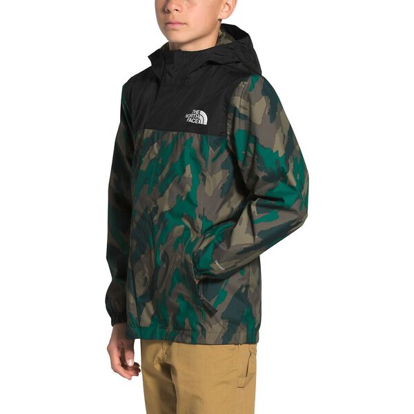 Boys' Resolve Reflective Jacket, EVERGREEN MOUNTAIN CAMO PRINT, hi-res