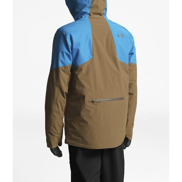 MEN'S POWDER GUIDE JACKET, HYPER BLUE/BEECH GREEN, hi-res