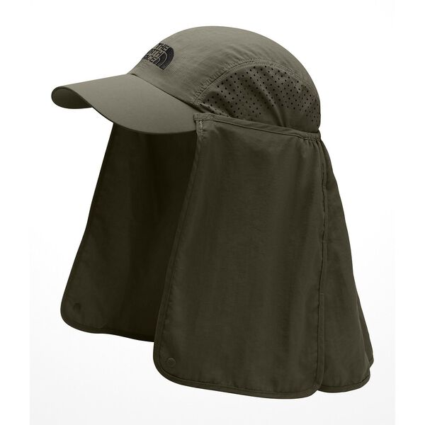 SUN SHIELD BALL CAP, NEW TAUPE GREEN/TNF BLACK, hi-res