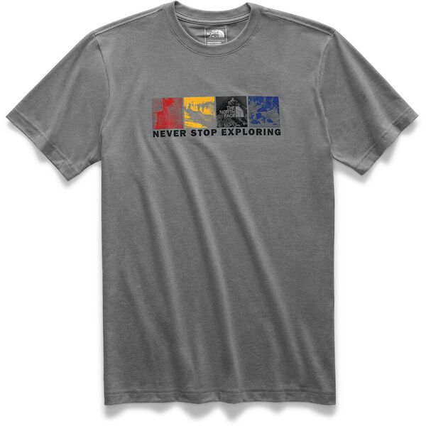 MEN'S SHORT-SLEEVE FREE SOLO HALF DOME TEE, TNF MEDIUM GREY HEATHER, hi-res