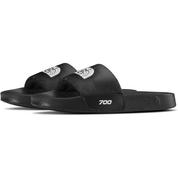 WOMEN'S NUPTSE SLIDES, TNF BLACK/TNF WHITE, hi-res