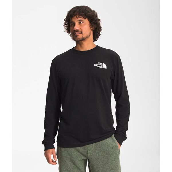 Men's Long-Sleeve Box NSE Tee, TNF BLACK/ASPHALT GREY, hi-res