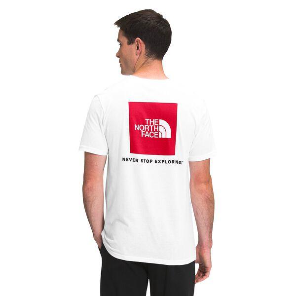 Men's Short-Sleeve Box NSE Tee, TNF WHITE/TNF RED, hi-res