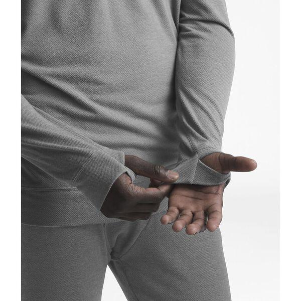 Men's Warm Wool Blend Long-Sleeve Zip Neck, TNF MEDIUM GREY HEATHER, hi-res