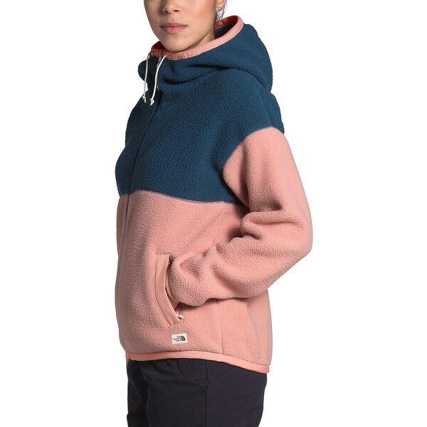 Women's Cragmont Fleece Full Zip Hoodie, BLUE WING TEAL/PINK CLAY, hi-res