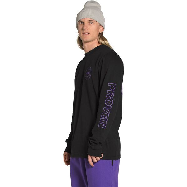 Men's Long-Sleeve Double Sleeve Graphic Tee, TNF BLACK, hi-res