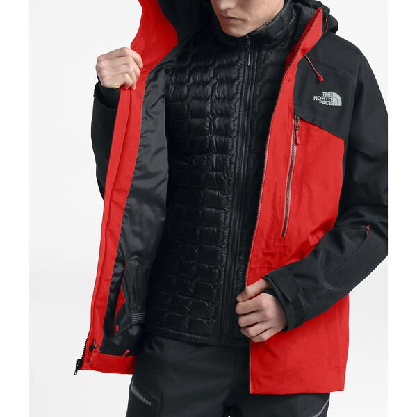 Men's Powderflo Jacket, FIERY RED/TNF BLACK, hi-res