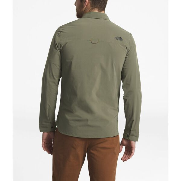 MEN'S NORTH DOME LONG-SLEEVE SHIRT, NEW TAUPE GREEN, hi-res
