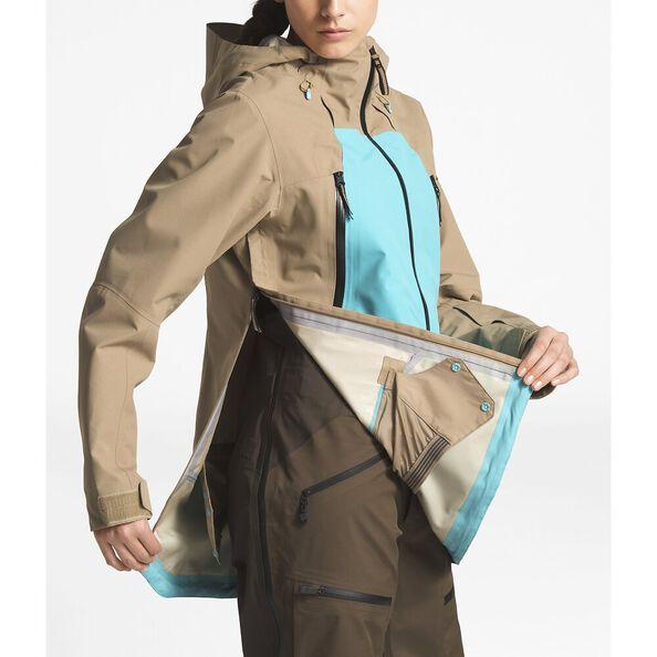 WOMEN'S CEPTOR ANORAK, KELP TAN/TRANSANTARCTIC BLUE, hi-res