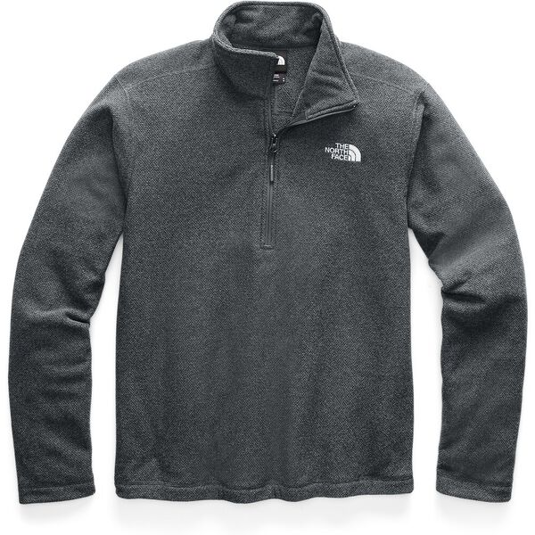 MEN'S TEXTURED CAP ROCK ¼ ZIP FLEECE, ASPHALT GREY, hi-res