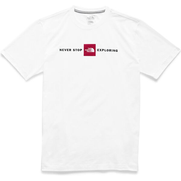 MEN'S SHORT-SLEEVE LOGO PLUS TEE, TNF WHITE, hi-res