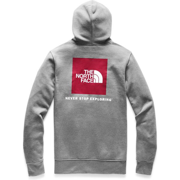 MEN'S RED BOX PULLOVER HOODIE, TNF MEDIUM GREY HEATHER/TNF RED, hi-res