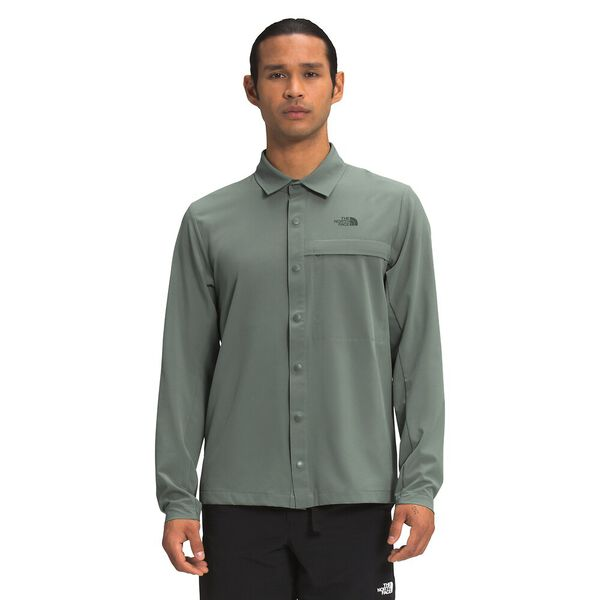 Men's First Trail UPF Long-Sleeve Shirt, AGAVE GREEN, hi-res